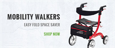 Mobility Walkers-Easy Fold Space Saver